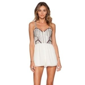 Tularosa Austin Romper Size L Embroidered Bustier